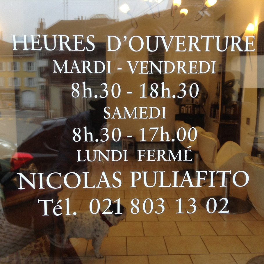 Horaires ouvertures - Nicolas Puliafito - Rolle